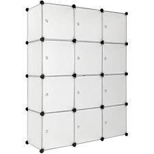 Steckregal mit Türen Schrank Regal Kunststoff Kleiderschrank Schuhregal weiß