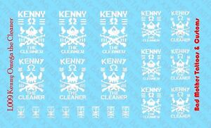 Scale Custom Waterslide Decals: Kenny Omega The Cleaner Logos White (OPAQUE)