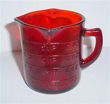 1 Cup Red Glass Meisuring Cup