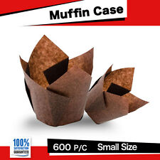 CAFE STYLE CHOCOLATE TULIP MUFFIN CASES 600PC -P30 MINI 110x110 CM CUPCAKE BOXES