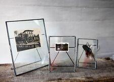 "Imagen De Cristal Antiguo De Zinc & Foto Marco De 5 X 7"" - toque por Nkuku-Gris Claro"