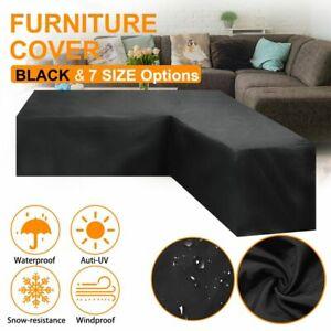 Waterproof Garden Furniture Cover Patio Rattan V Shape Sofa Dustproof Protective