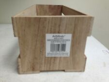 Natural Pine Wood Storage Unit CD Holder Crate 15 x 6 x 5 by art mines