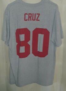 NFL New York Giants #80 Victor Cruz SB XLVI Jersey Shirt! Adult XL.