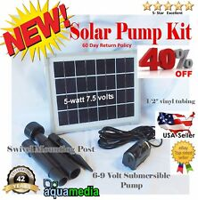 Bundle 2-Solar Water Pump Kit Pool fountain Pond Submersible Solar Pump Kits-TWO