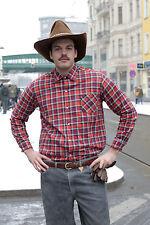 Zocnica Herren Hemd shirt rot red schwarz kariert 80er True VINTAGE 80´s men
