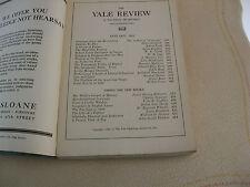 1921 Yale Review Robert Frost, Zangwill, Boas, Negro Life, Stevenson, Poe, ETC