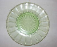 "Vintage Green Depression Glass 6"" Plate Hazel Atlas Ribbon Pattern"