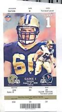 New Orleans Saints Houston Texans Full Unused NFL Football Game Ticket 8/16/08
