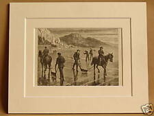 ICE HARVEST HUDSON RIVER USA VERY RARE ANTIQUE ENGRAVING FROM 1876 PUBLICATION