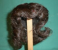 """doll wig dark brown 9"""" to 9.5"""" short hair with curls"""
