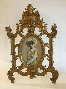Exquisite Ornate Cast Iron Easel Picture Frame