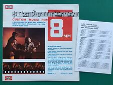 Rare CUSTOM MUSIC 8MM Library Soundtrack Cine Home Movies LP +Book Philip Green
