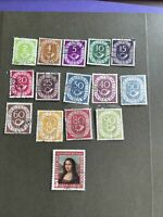 West Germany Used 15 Stamps,1951,fine Condition, See Photos