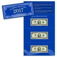 2017 $2 Triple Deuce Currency Set BEP only 3500 sets Series 2009 2013 VERY LOW #