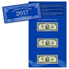2017 $2 Triple Deuce Currency Set BEP only 3500 sets Series 2009 2013 VERY LOW #