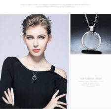 New Collection 925 Sterling Silver Large Floating Charm Necklaces with Pendants