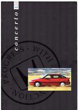 Honda Concerto 1991-92 UK Market Brochure Hatchback Saloon 1.5i 1.6i 1.6i-16