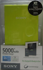 New Sony CPV5 Rechargeable Battery 5000mAh Portable Charger Lime Green #Jl24d