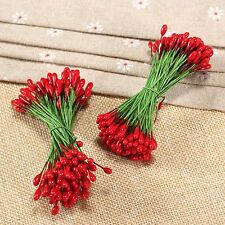 100Pcs Artificial Double Tip Flower Stamens for Wedding Cake Party DIY Craft