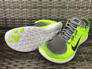 Nike Free Flyknit 4.0 - EUR 43 - US 9.5 - Neongelb Grau Schwarz