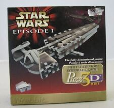 "Wrebbit Puzzle Puzz 3D Mini Star Wars Episode 1 Sith Infiltrator 9"" 73 parts"