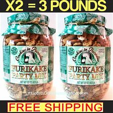 Cookies In Paradise Furikake Party Mix – X2 Jars = 3 POUNDS – Kaki Mochi Hawaii