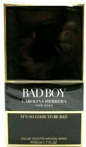 CAROLINA HERRERA BAD BOY EAU DE TOILETTE SPRAY FOR MEN 1.7 Oz / 50 ml BRAND NEW!