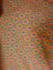 tissus provençal vintage au mètre en 150 cm de large, rouge, vert, bleu, losange