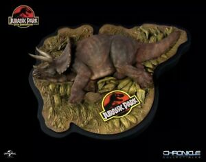 Steven Spielberg Jurassic Park Sick Triceratops statue By chronicle collectibles