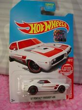 '67 PONTIAC FIREBIRD 400✰white✰#8 TARGET RED EDITION✰2017 Hot Wheels✰Factory Set