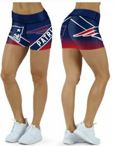 New England Patriots Small to 2XL Womens Shorts