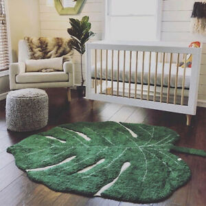 1.5M Nordic baby rug, cotton baby leaf play mat, activity play mat rug 2020