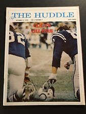 1970 The Huddle BALTIMORE COLTS vs HOUSTON Oilers JOHNNY UNITAS Tom MATTE Suggs