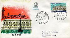 FRANCE FDC - 246 1155 3 VILLES RECONSTRUITES SETE 29 3 1958