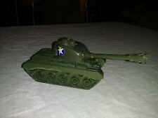 "Blue Box WWII U.S. plastic toy Tank 7"" Hong Kong"