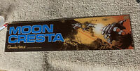 "23 7/8/6.6"" original Moon Cresta plexiglass arcade sign marquee C17"