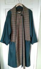 AVOCA Irish Pure New Wool Tweed Coat w/Tartan Check detail Worn once Avoca Wool