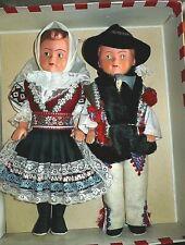 Boda Tracht Tatra duro muñeca de plástico muñecas set par 29 30 cm par de novia