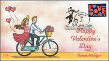 21-008, 2021, Valentines Day, Event Cover, Pictorial Postmark, Romeo MI, Love