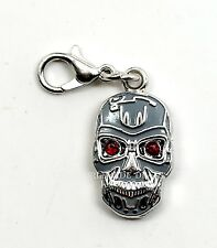 "NEW Universal Studios Terminator Mini Endoskull 3/4"" Charm Keychain Clip"