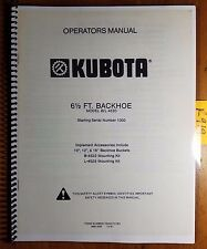 Kubota B/L 4520 6 1/2 ft Backhoe S/N 1000- Owner Operator Manual 70000-70183 '81