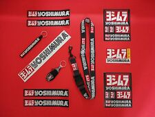 YOSHIMURA EXTREME BUNDLE! 8- STICKER DECALS, 2- KEYCHAINS & 1- LANYARD! GENUINE!