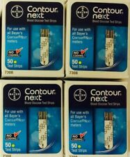 Contour Next Blood Glucose Bayer Test Strips Exp 9/1/21 (4 boxes)