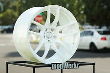 17x8.5 Inch +30 ESR Sr08 5x114.3 White Wheels Rims STI Civic RSX TSX IS300 TC XB