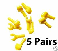 NEW Genuine Minifigure LEGO Lot of 10 Minifig Hands Total of 5 PAIRS Yellow