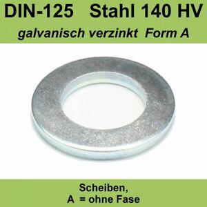 3,2 DIN125 Unterlegscheiben Scheiben Form A Stahl verzinkt f. M3 M 3 mm Unterlag