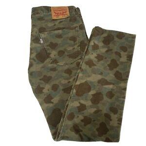 Levi's 502 Corduroy Camouflage Pants Mens Size 34x34 White Label