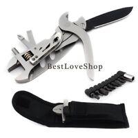 Heavy Duty Multi-tool Pocket Knife Set Adjustable Screwdriver Wrench Jaw Pliers