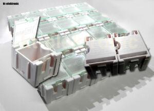 1x 50 Leer Container Box für SMD Bauelemente Mäuseklo Sortiment 0603 0805 1206
